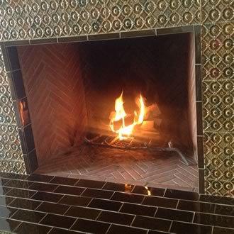 Berlin Fireplace #2- in Charcoal