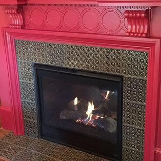 Berlin Fireplace- in Charcoal