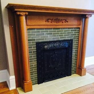 Field Tile Fireplace