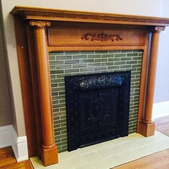 Field Tile Fireplace