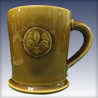 Fleur de Lis Coin Medallion Mug