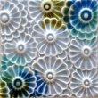 Flowers Tri-Color Blue Gray