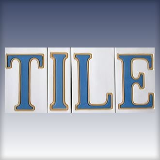 New Orleans Blue and White Street Tile Letters