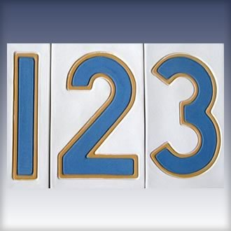 New Orleans Blue and White Street Tile Numbers
