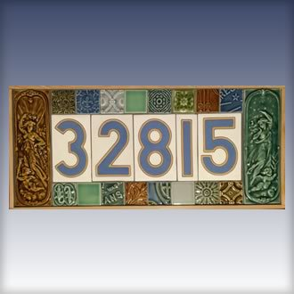 Street Numbers Mounted